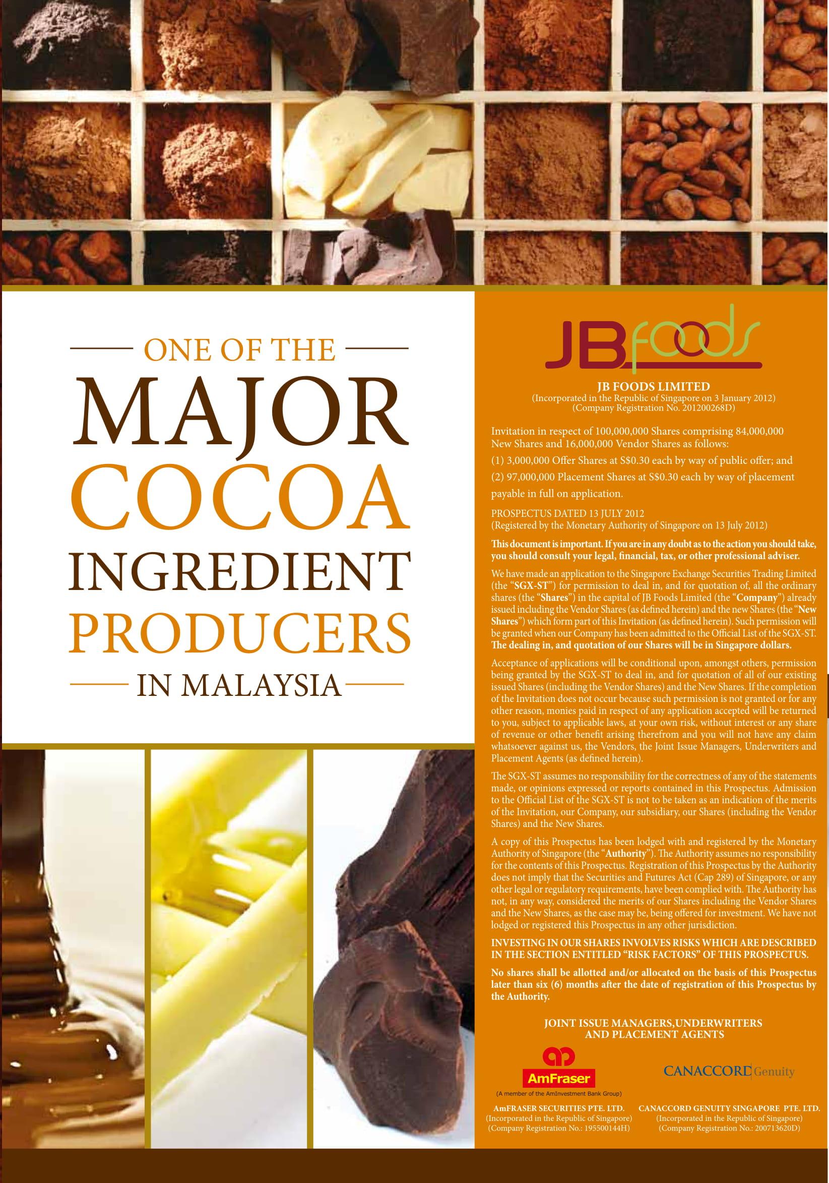 Annual Report - JB Cocoa